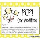 Build fluency with addition facts to 20 with this fun popcorn game!  Can be modified for lower grades by only using facts to 10....