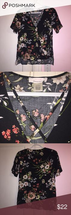 Crisscross Floral Top Brand new without tags. Crisscrossing over the chest. 100% Rayon Urban Romantics Tops