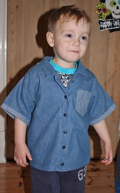 Western style toddler boys shirt sewing pattern   Barmy Beetroot