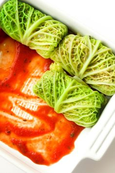 Cabbage Rolls with Wild Rice and Mushroom Filling