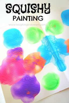 Squishy painting for kids that teaches symmetry. Great fun for all ages. - Laughing Kids Learn