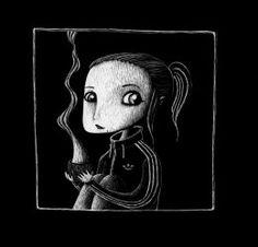 Ilustradora: Meritxell Ribas.  Illustration scratcboard grattage