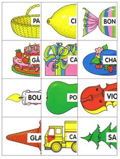 mots valise cartes objets1 Autism Education, Education Quotes, Art Education, European Day Of Languages, French Worksheets, Social Stories, Teaching French, Learn French, Infant Activities