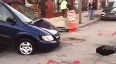 The CELESTIAL Convergence: GEOLOGICAL UPHEAVAL: More Sinkholes Keep Popping Up Across The United States & England - 10 Feet Deep Sinkhole Traps Minivan In Toledo, Ohio...