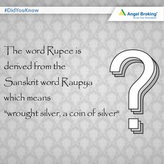 #DidYouKnow?  #trivia #facts #rupee #India