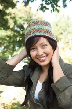 GEMS Fair Isle Hat - Knitting Patterns by Terry Morris