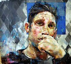 "Saatchi Art Artist Andrew Salgado; Painting, ""PERFORMANCE IV: RHOMBUS"" #art"