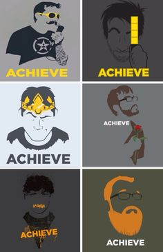 Achieve shirts AH Roosterteeth Rwby, Roster Teeth, Youtube Quotes, Stupid Guys, Achievement Hunter, Red Vs Blue, Smosh, Pewdiepie, Steven Universe