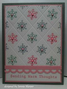 Great idea to use the scor board to create a quilted look