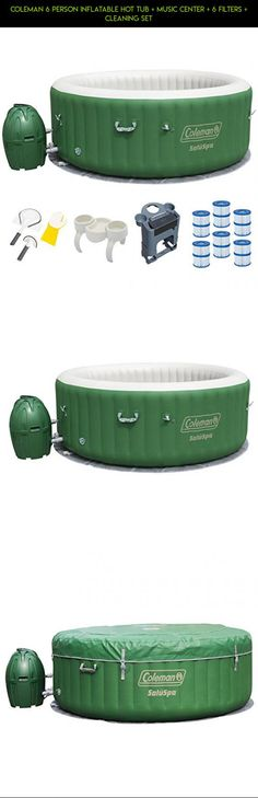 Coleman 6 Person Inflatable Hot Tub + Music Center + 6 Filters + Cleaning Set #tech #plans #racing #6 #fpv #drone #shopping #hot #tubs #products #camera #kit #parts #person #gadgets #technology