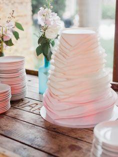 Ruffled cake: http://www.stylemepretty.com/florida-weddings/2015/05/28/miami-kampong-gardens-spring-wedding/   Photography: Merari - http://merari.com/