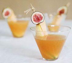 Fig Melon Martini cocktail recipe for Maui weddings.