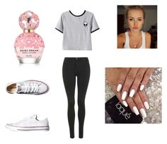 """""""Natalia (1)"""" by nataliakozyra ❤ liked on Polyvore featuring Topshop, Converse, Marc Jacobs and Chicnova Fashion"""