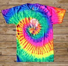 2011 Hangout Fest Tie Dye T-Shirt - Rainbow - $20.00