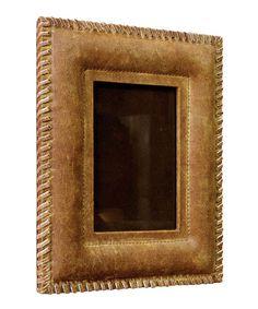 Look at this #zulilyfind! Tan Leather Photo Frame by Alta Home #zulilyfinds