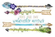 Create Your Own Watercolor Arrows by Digital Press Creation on Creative Market