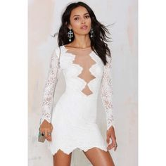 For Love and Lemons White Noir Dress Barely worn, looks great on. No holes, tears, or stains. Authentic for love and lemons dress as seen in the pictures. Non-smoker, size 4. Comment for any further inquiries! For Love and Lemons Dresses Mini