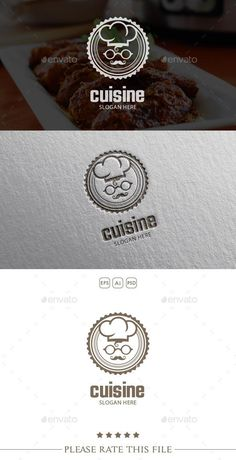 Chef Logo for $29 - GraphicRiver #BestDesignResources Restaurant Service, Pizza Restaurant, Spaghetti Restaurant, Restaurant Design, Resturant Logo, Logan, Chef Logo, Dessert Logo, Catering Logo