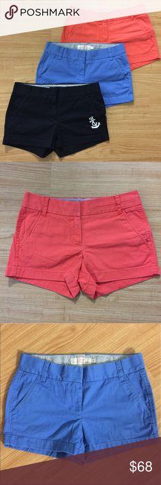 3 j.crew chino shorts. Size 0. 3 j.crew chino shorts. Size 0. J. Crew Shorts