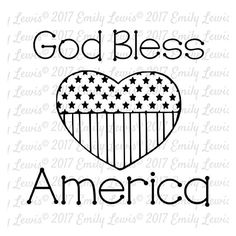God Bless America SVG  4th of July SVGs  4th of Ju…