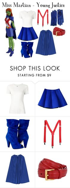 """Miss Martian - Young Justice"" by aquatic-angel ❤ liked on Polyvore featuring 321 and Prada"