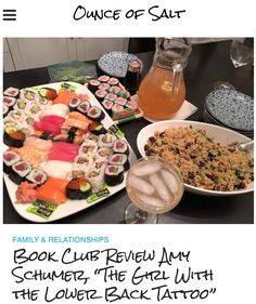 Book Club Review Amy Schumer The Girl with the Lower Back Tattoo is like listening to one of your girlfriends telling you stories which make your jaw drop.