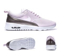Nike Womens Air Max Thea Text Trainers Bleached Lilac S92385