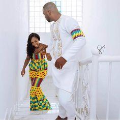 We Love Ghana Weddings💑💍 ( Rasta Wedding, Ghana Wedding, Traditional Wedding Attire, African Traditional Wedding, Traditional Styles, Couples African Outfits, Couple Outfits, African Wedding Attire, African Attire
