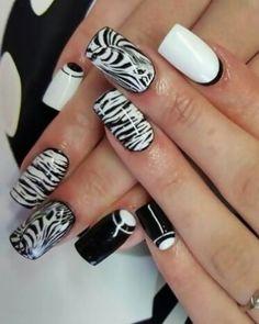 deco ongles zebre