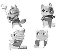 "Mike Yamada on Twitter: ""Quickie cat sketches for an unproduced ..."
