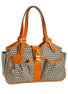 Caryn Tangerine diaper bag