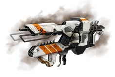 School project, design a weapon or prop in the style of a movie or videogame, I chose district Sci Fi Weapons, Weapon Concept Art, Fantasy Weapons, Weapons Guns, Nerf Mod, Future Weapons, Firearms, Spaceships, 8th Birthday