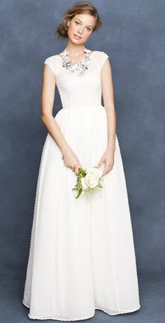 SWISS DOT DEPRESSED modest wedding dress