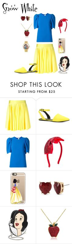 """""""Snow White"""" by cryingtemptress on Polyvore featuring FAUSTO PUGLISI, ALDO, Victoria, Victoria Beckham, Casetify, Betsey Johnson, Danielle Nicole, Amanda Rose Collection, Disney and disneybound"""