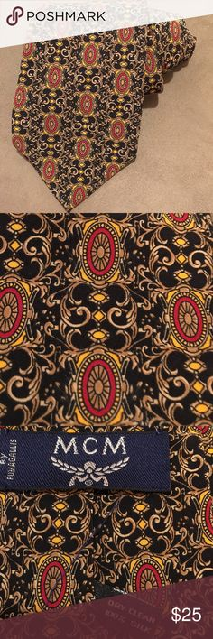 MCM BY FUMAGALLIS 100% SILK BAROQUE PATTERN TIE Highest quality, timeless classic pattern and style tie for special occasion, work or casual wear with jeans or corduroy.it shows your special class, taste, fashion appreciation! Vintage! EUC! MCM Accessories Ties