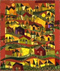 Up the Mountain - I like quilts that form a picture like this