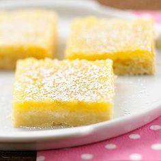Lemon Bars An extra splash of lemon juice plus lemon peel adds tremendous tang to  this classic recipe. Pucker up and enjoy this luscious dessert.
