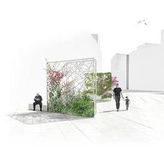 Design Visual For Plaza del Raval de Sant Josep. Architecture Graphics, Architecture Student, Architecture Drawings, Architecture Portfolio, Facade Architecture, Landscape And Urbanism, Urban Landscape, Landscape Design, Photomontage