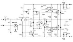 Here power amplifier scheme based well-known transistor pair of and Schematic design, PCB layout provided, power supply circuit included Electronic Circuit Design, Electronic Engineering, Valve Amplifier, Audio Amplifier, Power Supply Circuit, Schematic Design, Electronic Schematics, Circuit Diagram, Islamic Inspirational Quotes