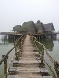 Pfahlbauten am Bodensee Unteruhldingen Museum Unesco World heritage lake dweillings, Lake Constance, Germany