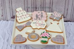 Bridal Shower / Engagement Cookies by The Baked Equation