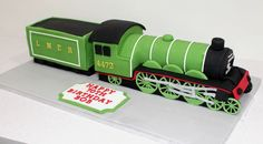 An (almost) scale replica of the flying scotsman train for an avid trainspotter on his Handcarved and all edible. Board is 24 x so quite a bit of cake! 70th Birthday Cake, Trains Birthday Party, Adult Birthday Cakes, Birthday Ideas, Happy Birthday, Bmw Cake, Flying Scotsman, Fondant Decorations, Birthday Cake Decorating