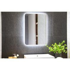 Backlit Bathroom Mirror, Frameless Mirror, Led Mirror, Mirror With Led Lights, Lighted Wall Mirror, Wall Mounted Mirror, Visual Lighting, Attic, Ideas