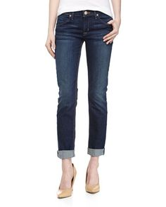 Bacara+Cuffed+Straight+Leg+Jeans,+Madrid+by+Hudson+at+Neiman+Marcus+Last+Call.