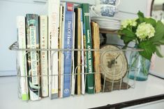 Using Vintage Items for Small Storage | A Blue Nest