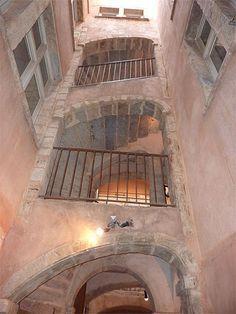 escalier traboule de Lyon France