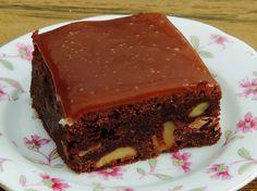 Brownie's met gezouten karamel uit de Bakbijbel van A tot Z van Rutger van den Broek, onder andere bekend van Heel Holland Bakt