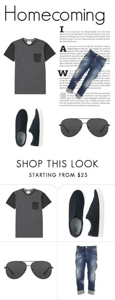 """""""Sem título #7"""" by letybaby on Polyvore featuring Billabong, Uniqlo, Michael Kors, Dsquared2, men's fashion e menswear"""