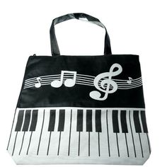 Music note tote! #music http://www.pinterest.com/TheHitman14/music-paraphenalia/