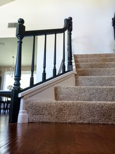 Painted Stair Rails Annie Sloan Chalk Paint In Graphite